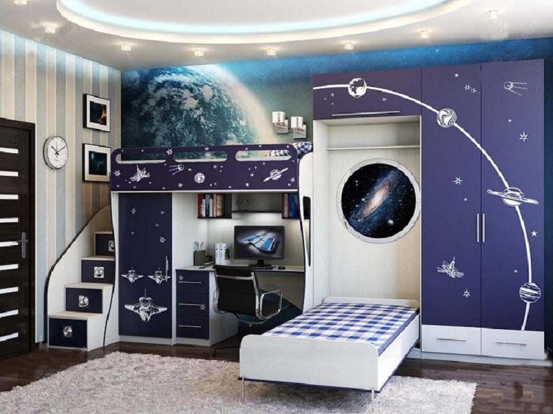 Космическая детская комната