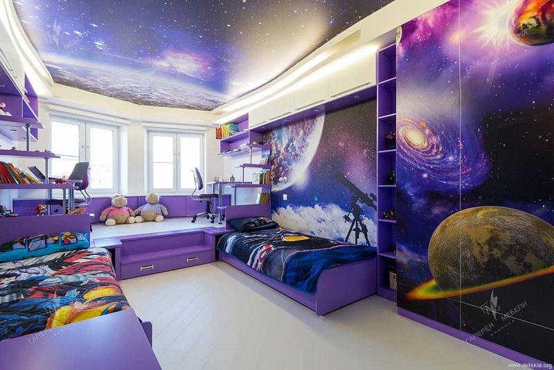 Цветовая гамма космической детской