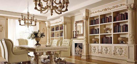 Элитная гостиная с колоннами