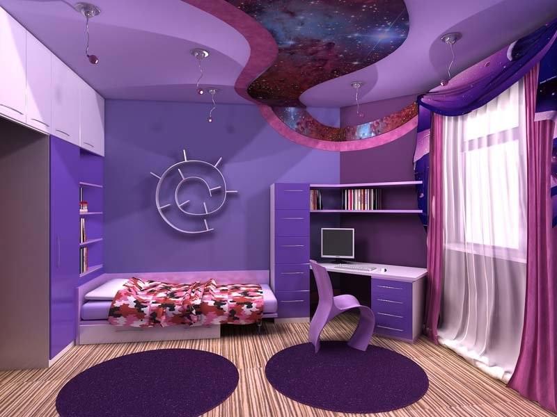 Космическая тема в детской комнате