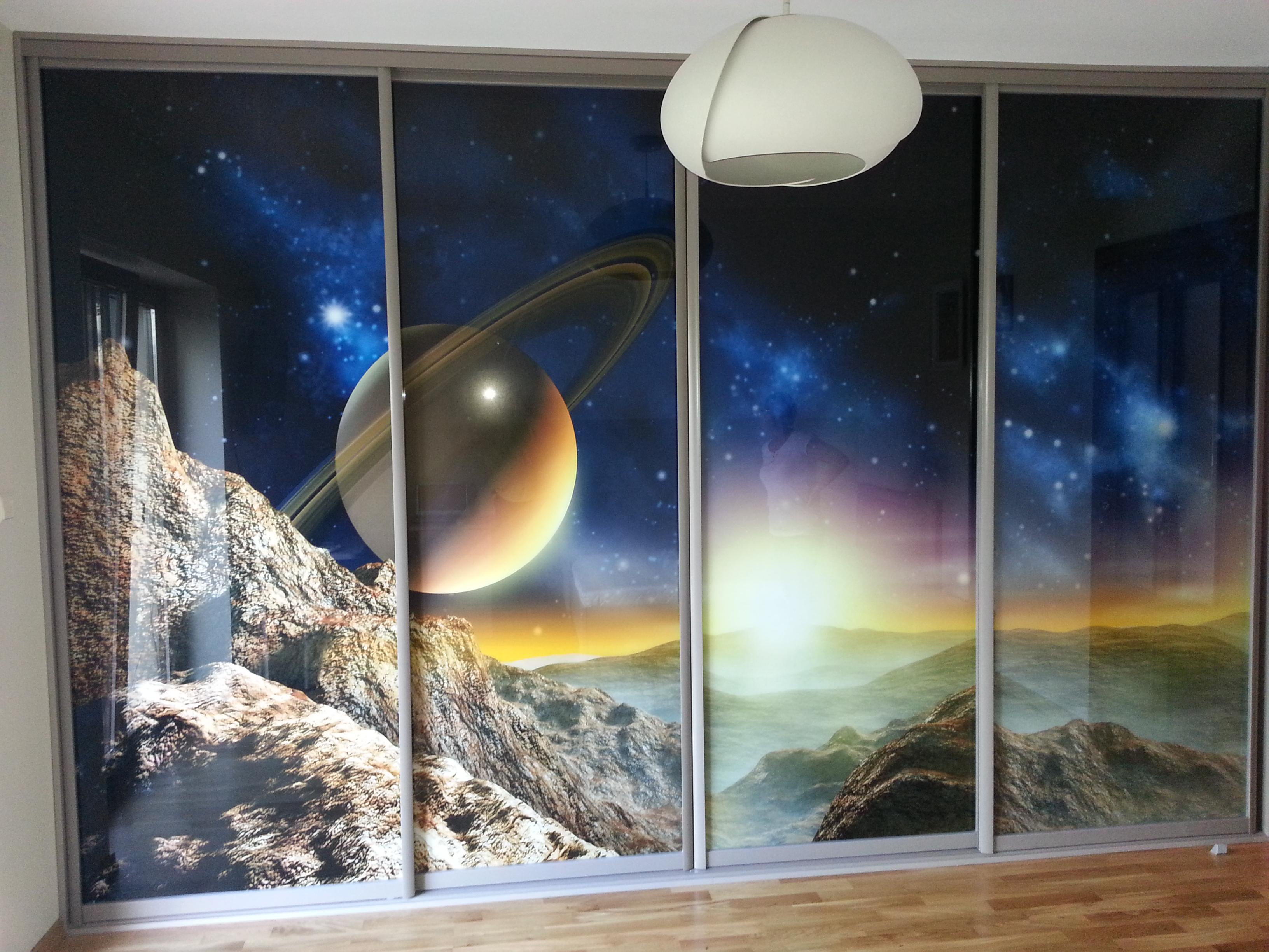 Шкаф с фотопечатью Космос