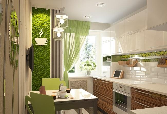 кухня экостиль в светлых цветах