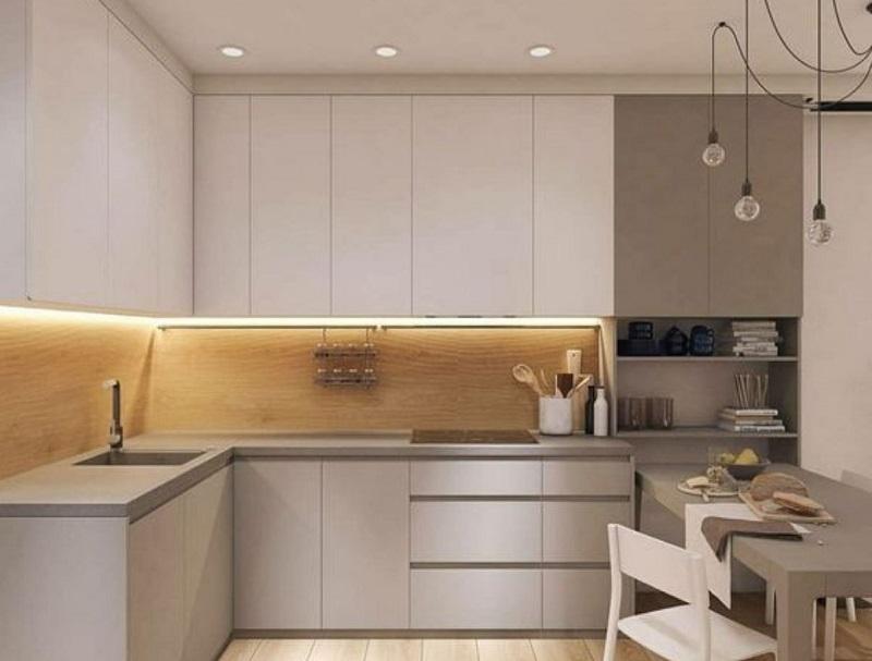 Угловая кухня под потолок