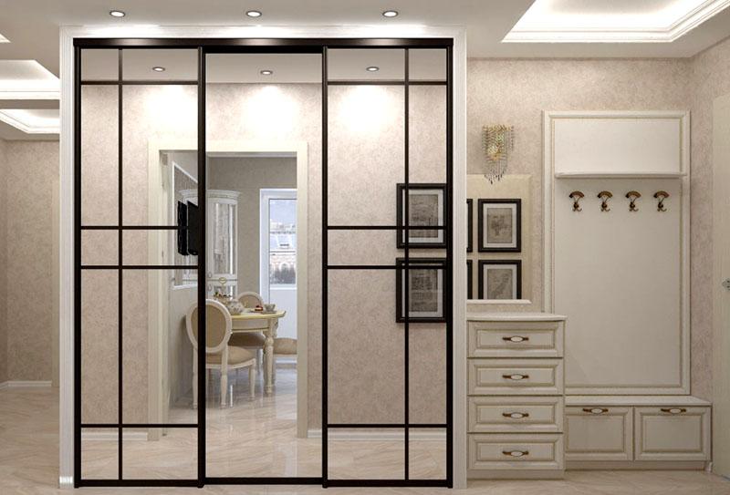 Шкаф для прихожей с зеркалом