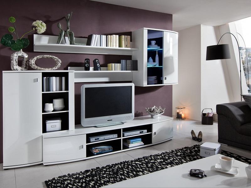 Мебель для гостиной белого цвета