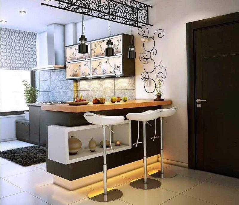 Многоуровневая барная стойка для кухни