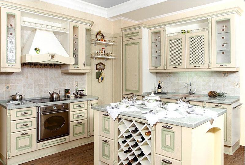 Кухня Прованс из итальянского массива дерева