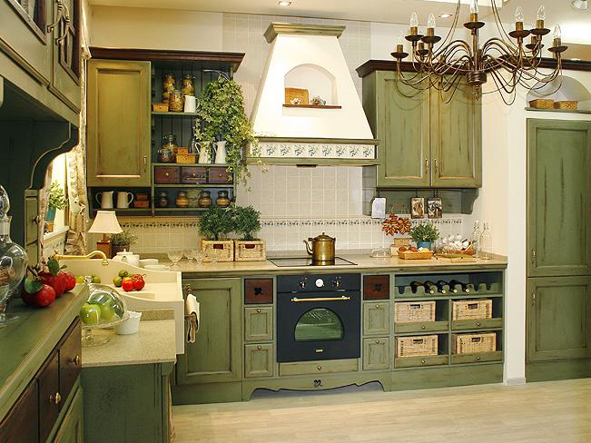 Кухня Прованс фисташка