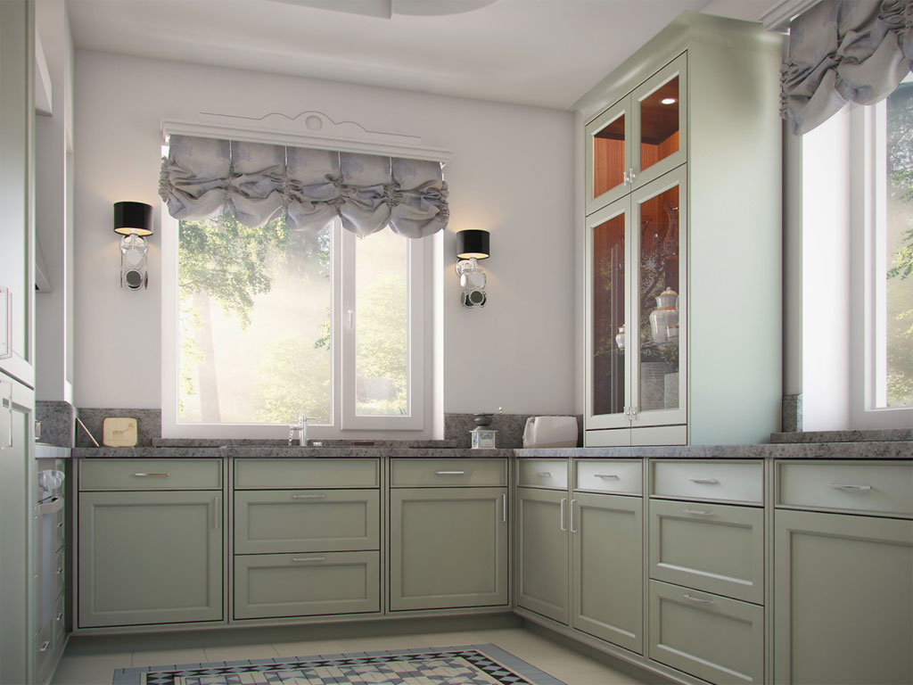 Кухня Прованс с окном