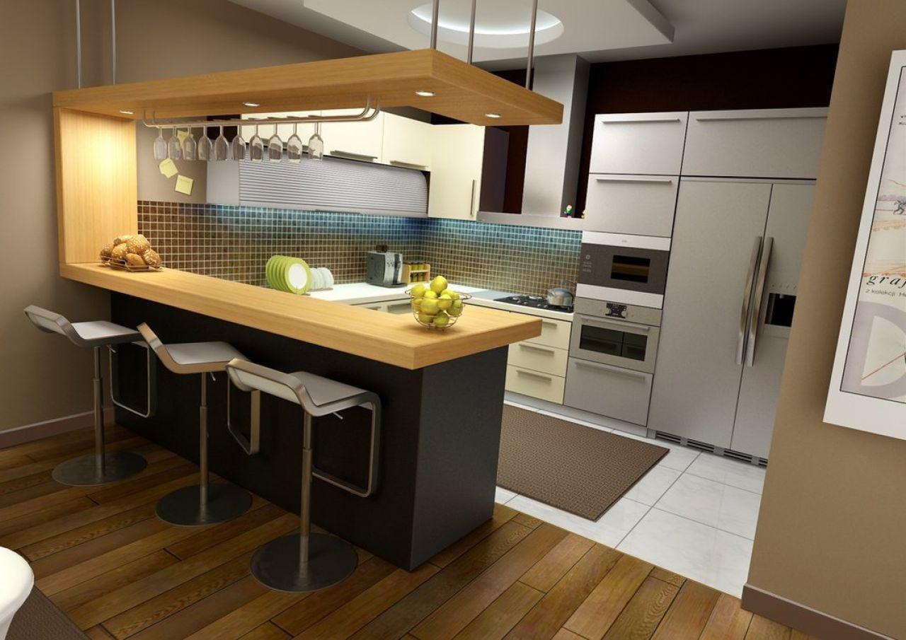 Барнка стойка минимализм на кухне