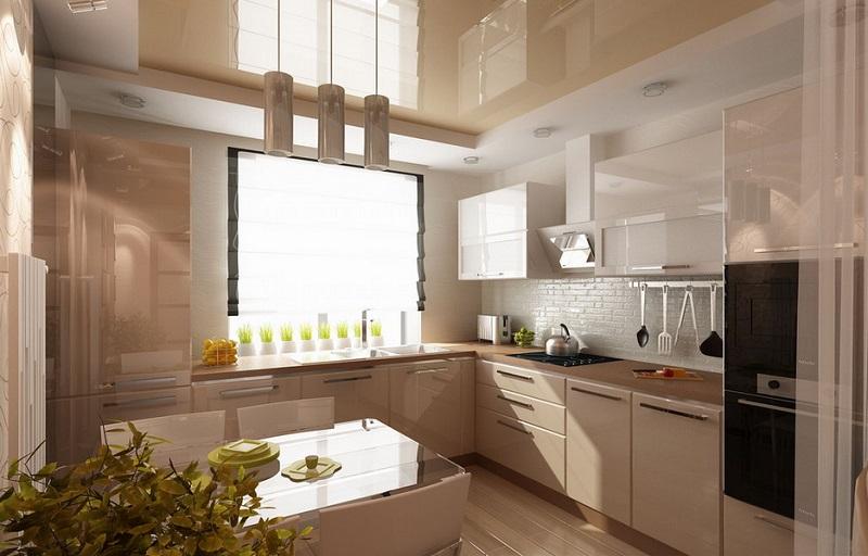 Современная светлая кухня