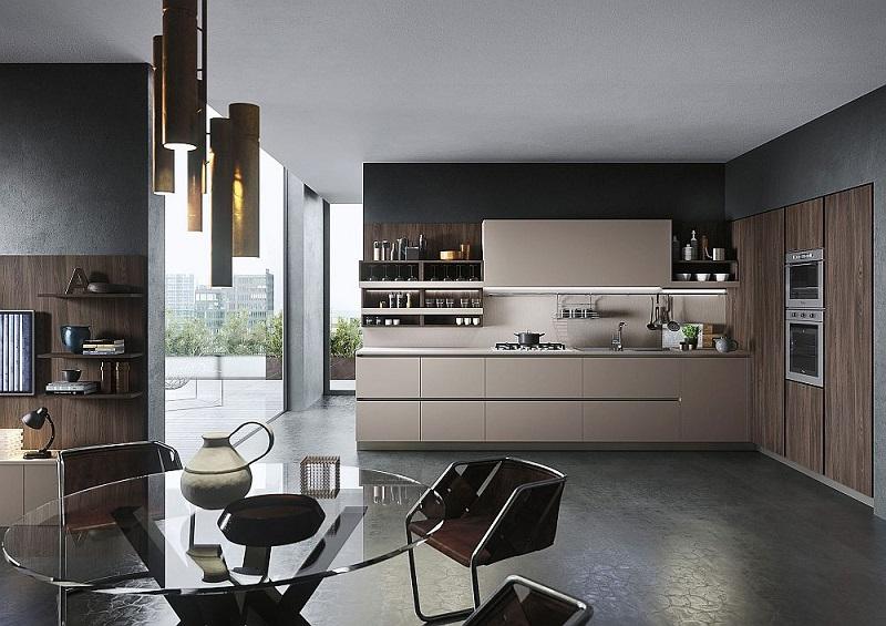 Современная светлая кухня в стиле минимализм