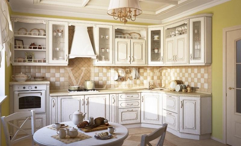 Столешница для белой классической кухни